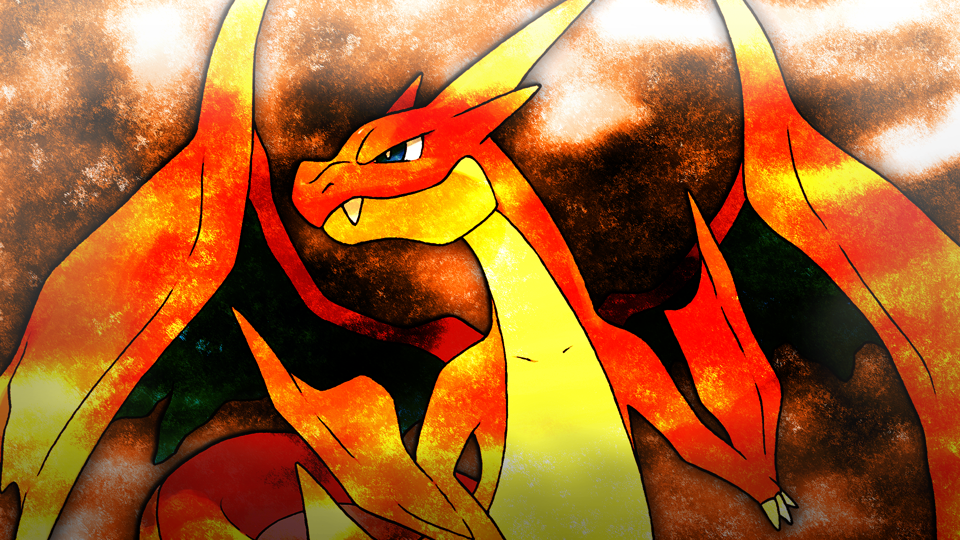 mega charizard y wallpaper 4 by glench on deviantart