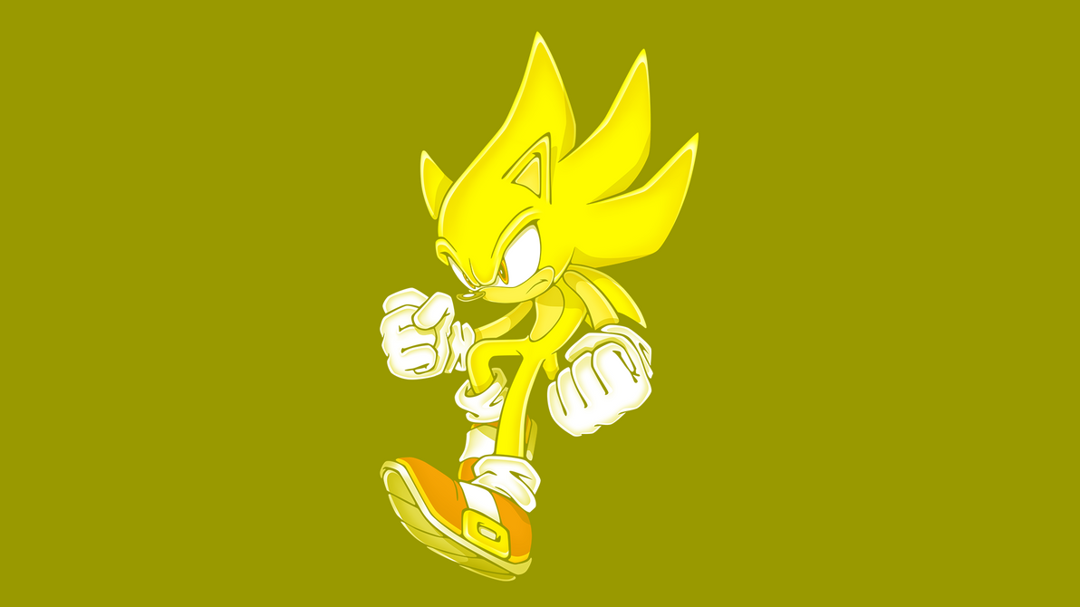 Super Sonic The Hedgehog 2D Wallpaper By Glench On DeviantArt