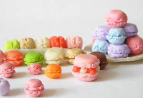 Polymer clay macarons