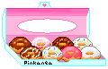Donuts in a box by Pinkanea