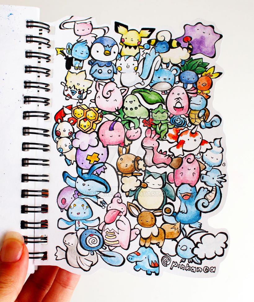 Pokemon Doodles by Pinkanea
