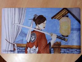 Susumu Kuroko Playmat (Legend of the Five Rings) by STsung