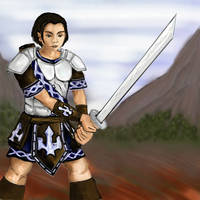 Warrior doodle by STsung