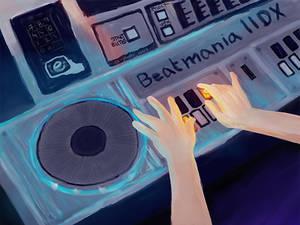 Beatmania IIDX (doodle of the day)