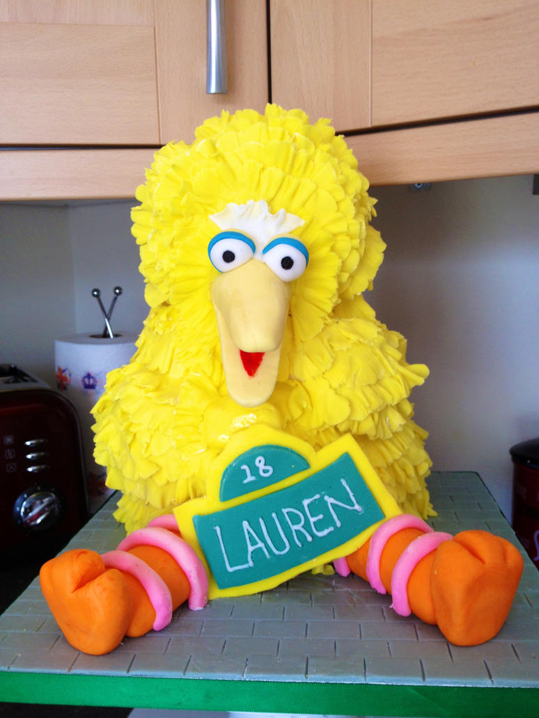 Big Bird cake by spudsonfire on DeviantArt