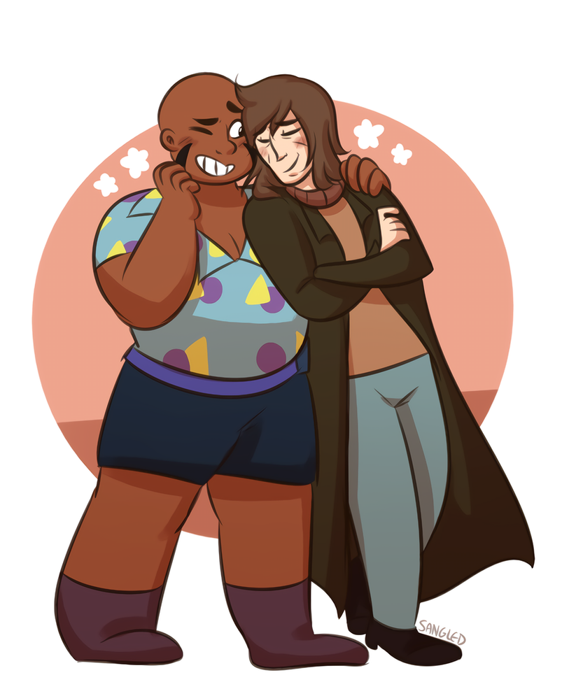 the two halves of theater! this show continues to give me life(*´▽`*) and this couple is the most wholesome thing i swear *clutches chest* --- redbubble: (www.redbubble.com/people/...
