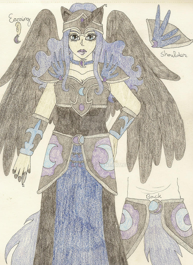 nightmare moon human form concept by lvdpoppe on deviantart