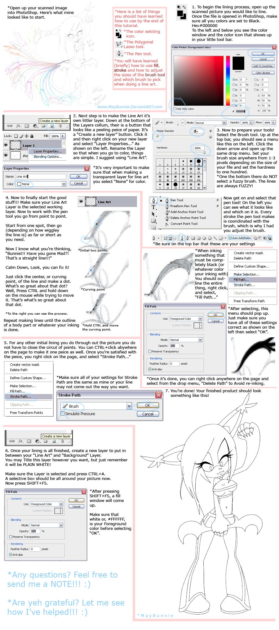 Color lineart in photoshop - Art Tutorial Photoshop Download Image Color Line Art