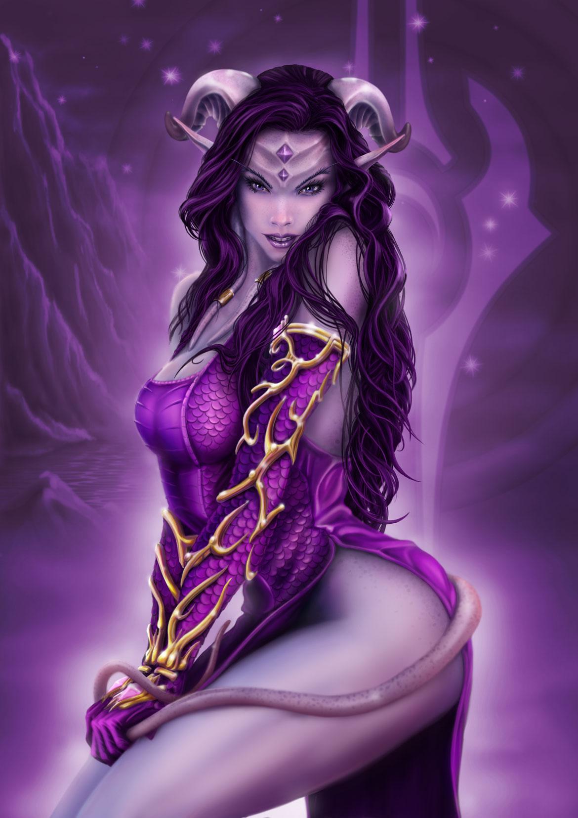 World of warcraft draenei female hot art  hentia toons