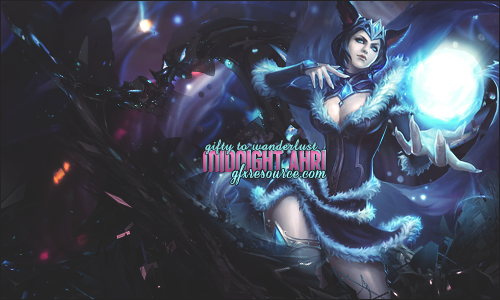 Midnight Ahri by KellyGFX