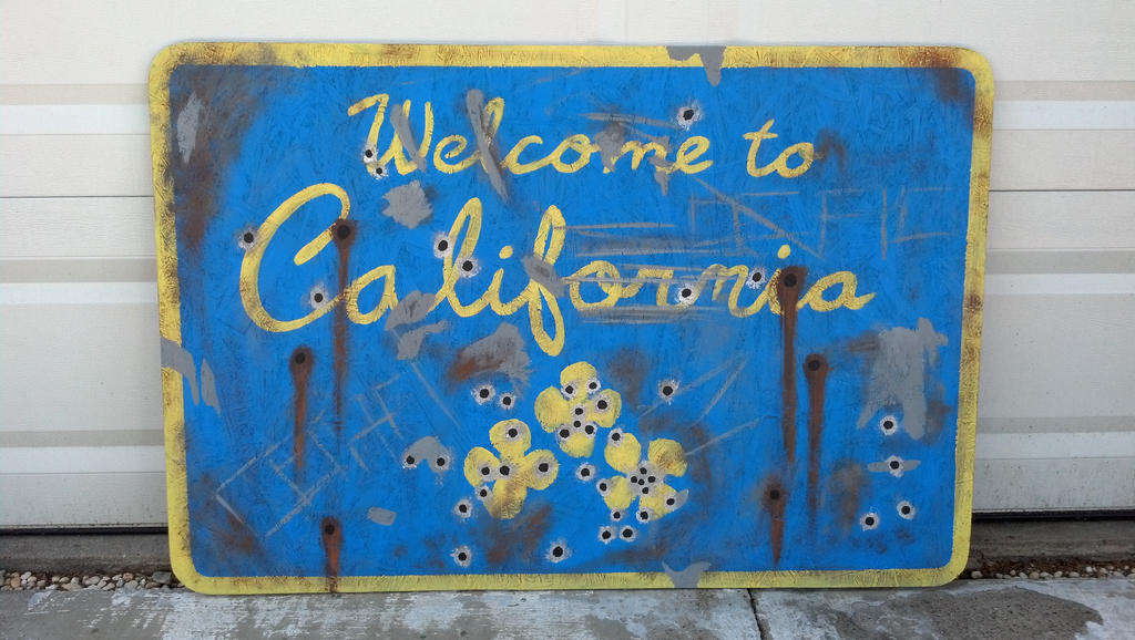 Fallout New Vegas Welcome to California sign by TSSOC on DeviantArt