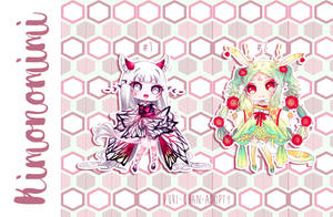 [CLOSED TY] Adoptable AUCTION 42 - KIMONOMIMI by Puripurr