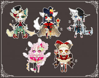 [CLOSED] Adoptable 140 - CIRCUS FREAK AUCTION by Puripurr