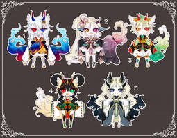 [CLOSED] Adoptable 141 - KIMONOMIMI AUCTION by Puripurr