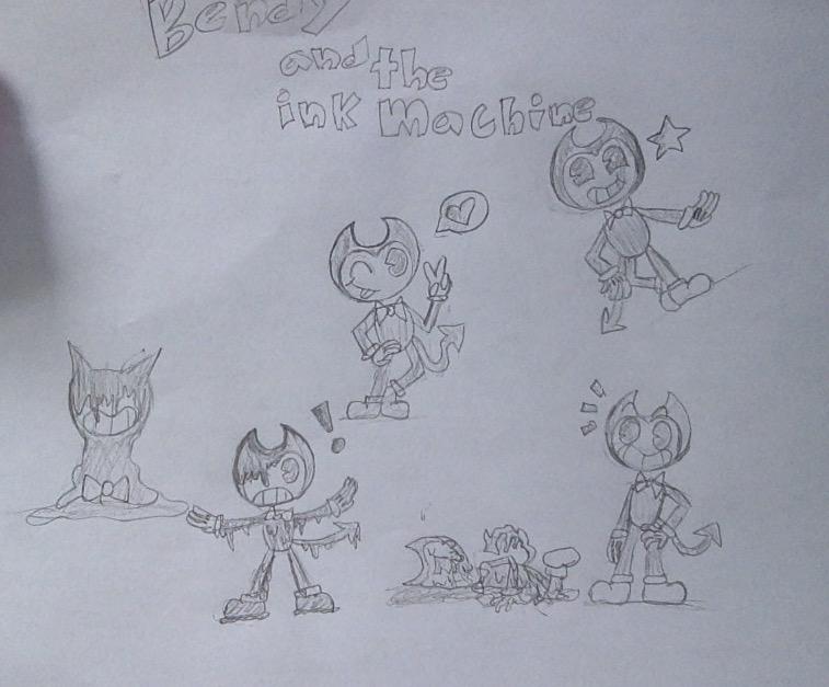 Random Bendy doodles by honeydumplins