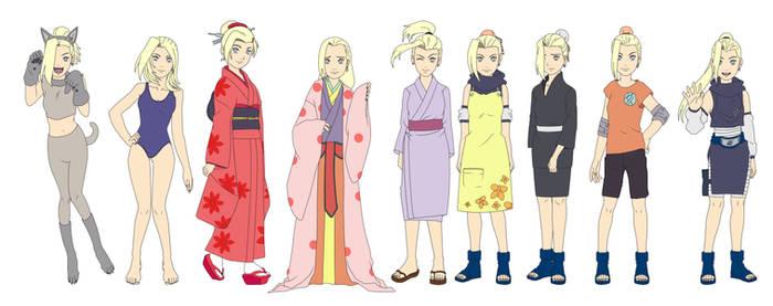Ino Yamanaka Outfit Color NARUTO