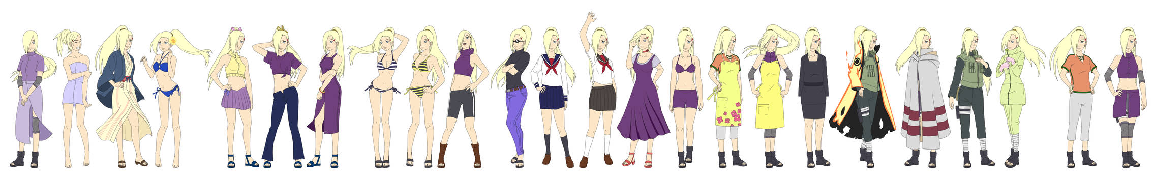 Ino Yamanaka Outfit Color NARUTO SHIPPUUDEN