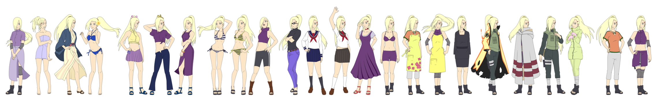 Ino Yamanaka Outfit Color NARUTO SHIPPUUDEN by ...