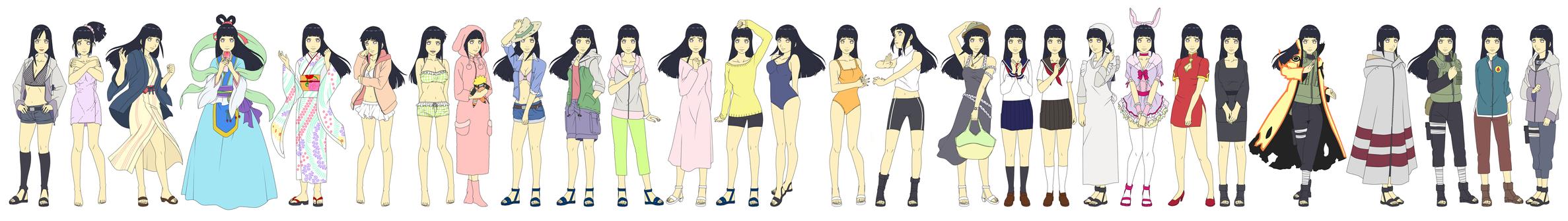 Hinata Hyuuga Outfit Color NARUTO SHIPPUUDEN by SunakiSabakuno