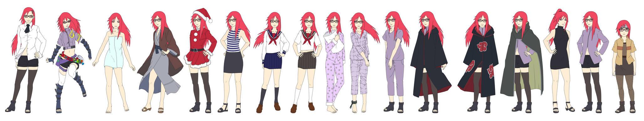Karin 'Uzumaki' Outfit Color