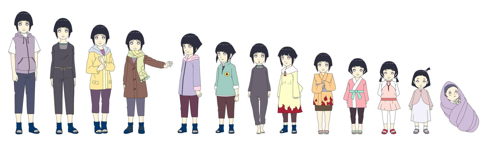 Hinata Hyuuga Outfit Color Child By Sunakisabakuno On