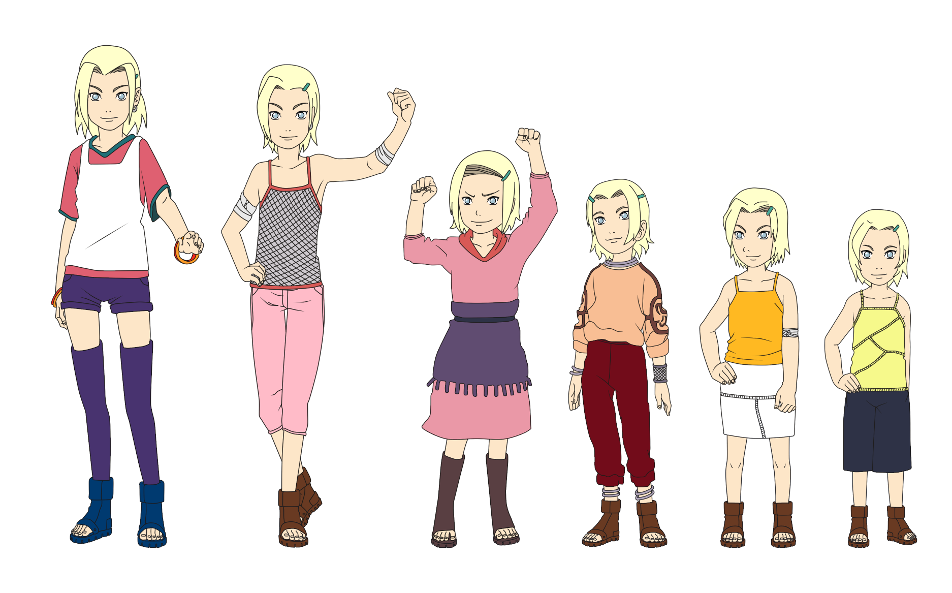 Ino Yamanaka Outfit Color Child by SunakiSabakuno on ...