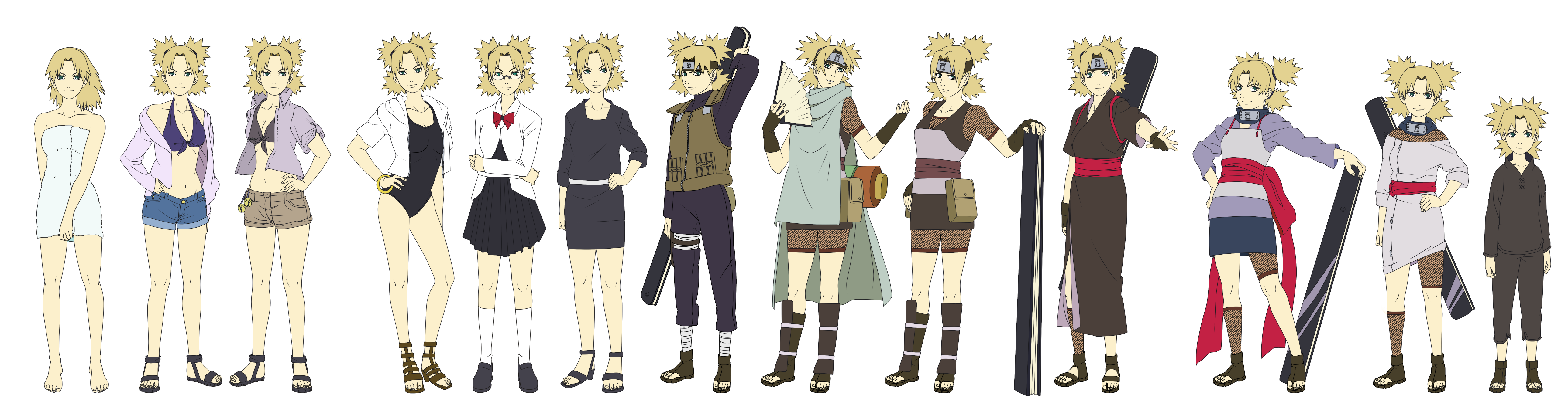 Temari Outfit Color NARUTO SHIPPUUDEN by SunakiSabakuno on ...