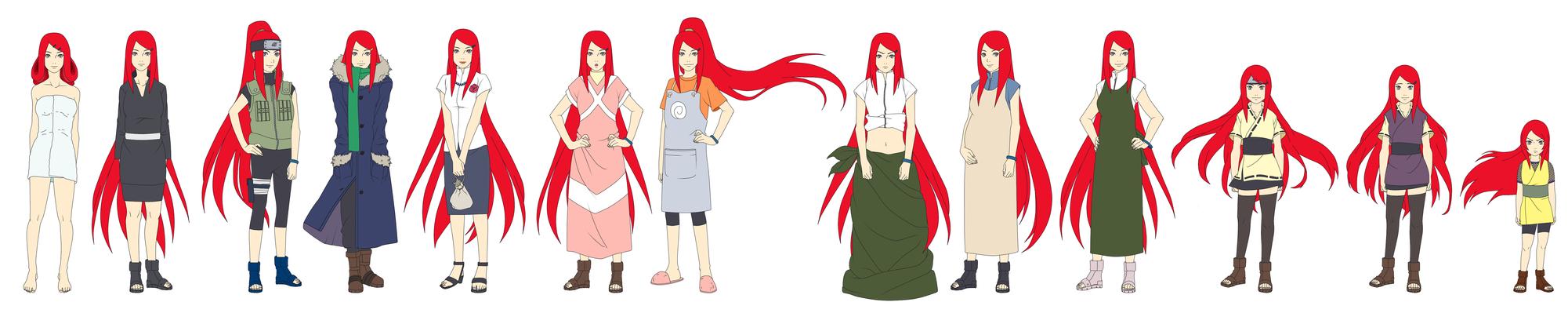Kushina Uzumaki Outfit Color by SunakiSabakuno
