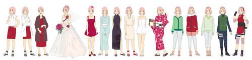 Sakura Haruno New Era 1 Outfit Color by SunakiSabakuno