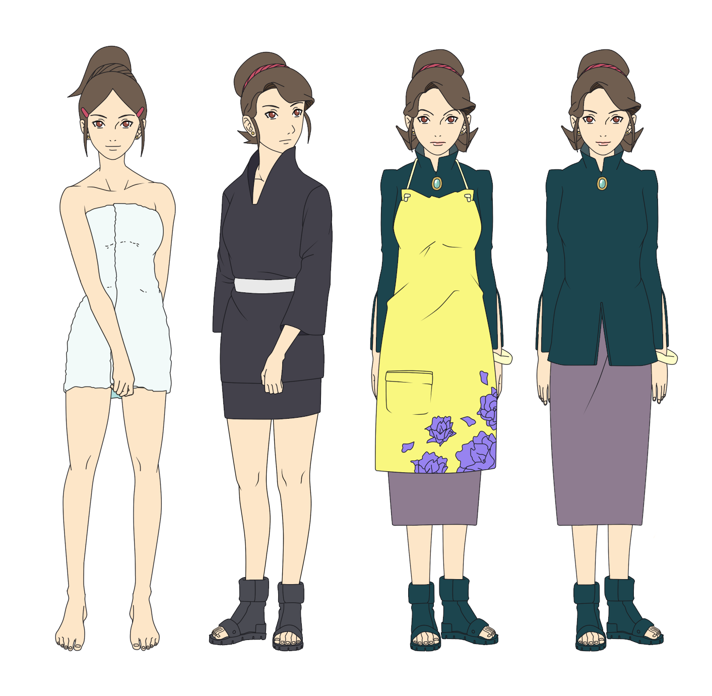 Mrs. Yamanaka Outfits Color by SunakiSabakuno on DeviantArt