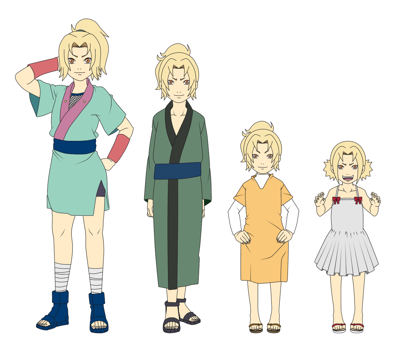 tsunade outfit color child by sunakisabakuno tsunade outfit color child by sunakisabakuno - Pictures To Color For Children