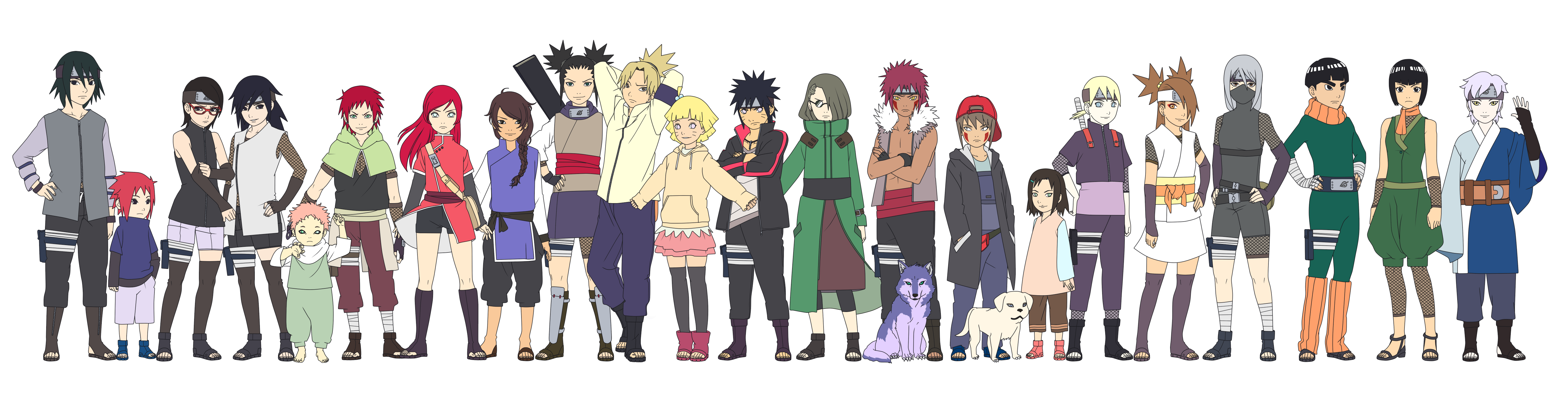 My Naruto children Color by SunakiSabakuno on DeviantArt