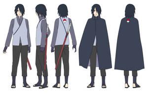 Sasuke Uchiha (32 years) Color by SunakiSabakuno