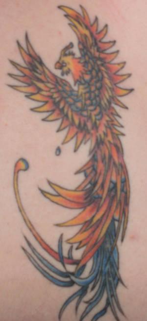 Crying Pheonix Tattoo