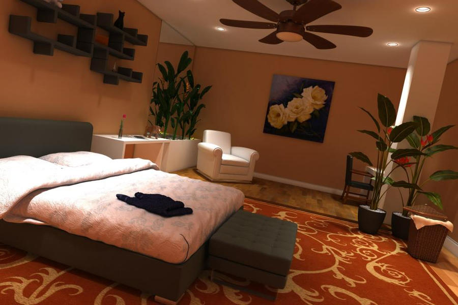 Room 3ds max + Vray by paulagaidz