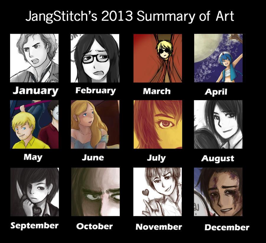 2013 Summary of Art by jangstitch