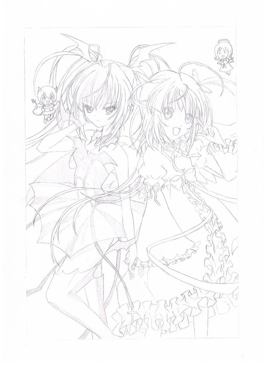 Dessin manga ange et demon by sakuranohana1980 on deviantart - Dessin ange demon ...