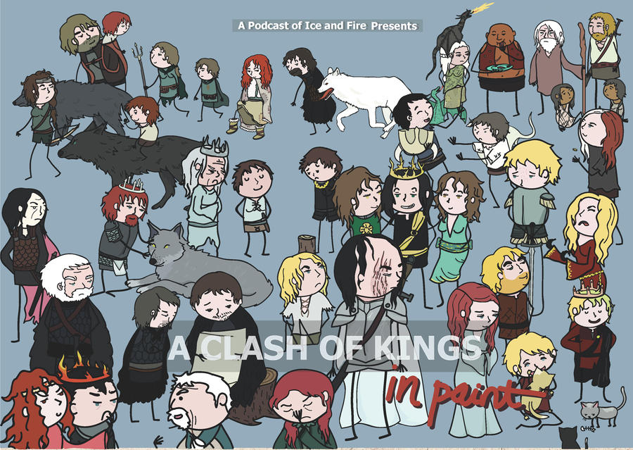 A Clash of Kings Drawing  A Clash Of Kings Original Book Cover