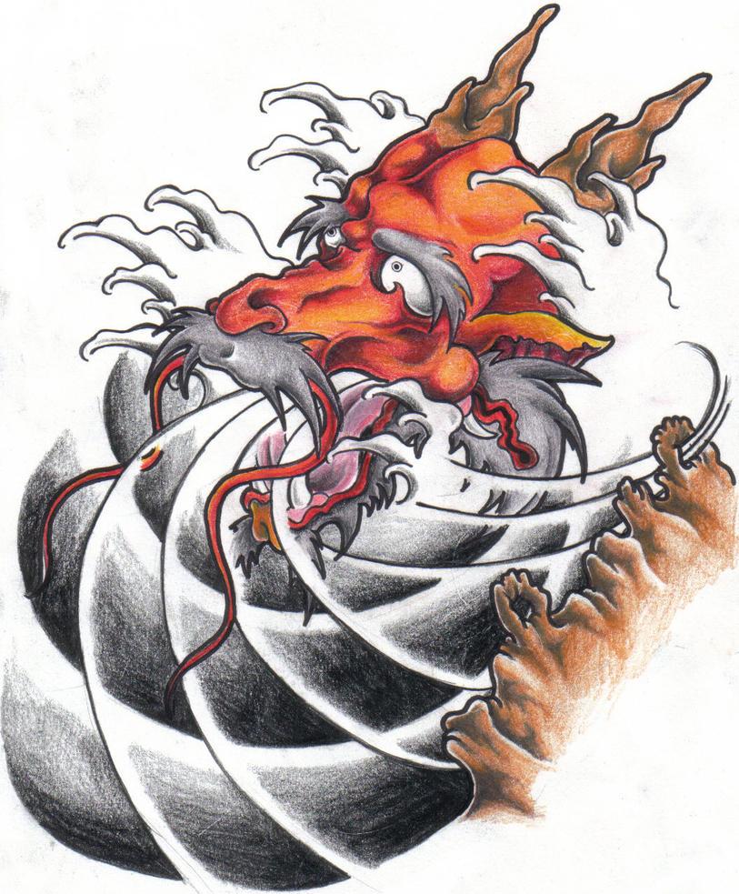 Japanese Dragon: Japanese Dragon By BettieBoner On DeviantArt