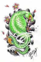 Japanese snake by BettieBoner