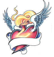 Burning heart by BettieBoner