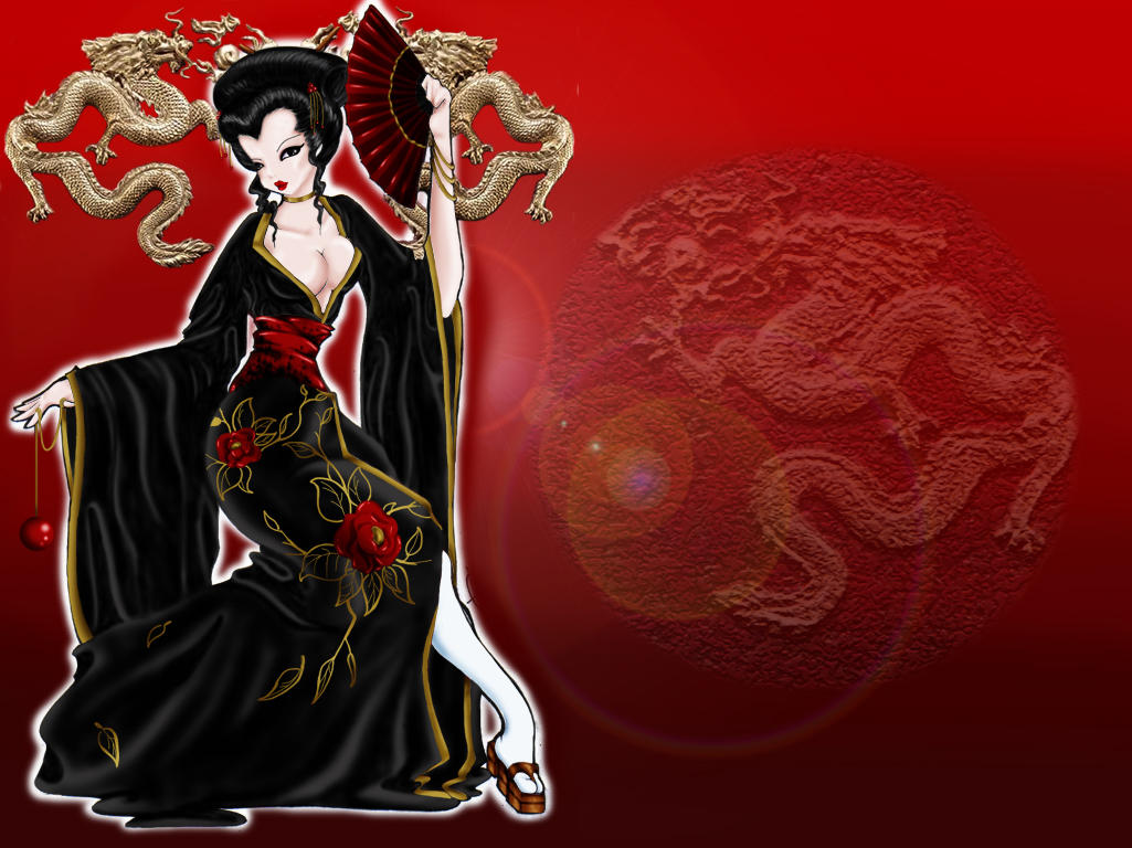 Geisha - Wallpaper by BettieBoner