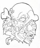 Skull and stuff by BettieBoner