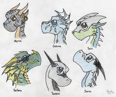 Chibi Dragons by Tusami