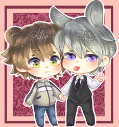 Misaki and Usagi by orlyvameza