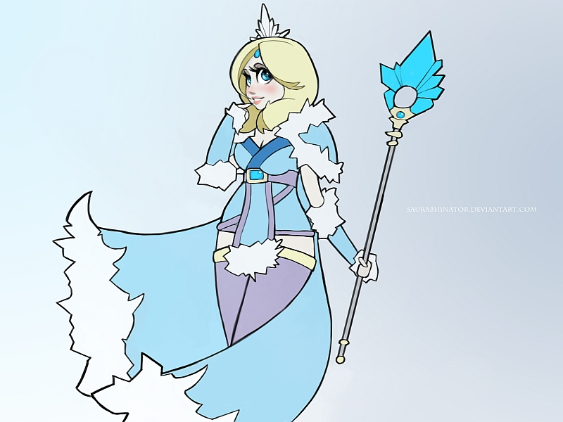 Crystal Maiden by Saurabhinator