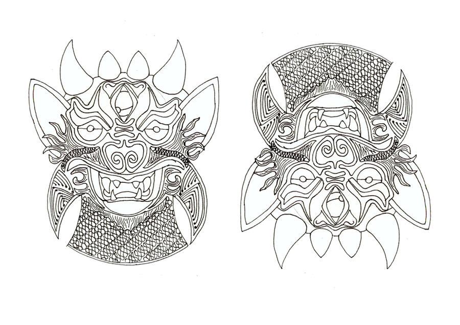 thai style tattoo 2 by joelogue on deviantart. Black Bedroom Furniture Sets. Home Design Ideas