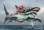 Lemurian Panther Shark War Steed Color