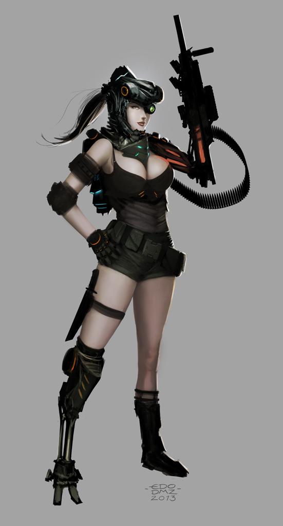 Cyborg Girl by edsfox