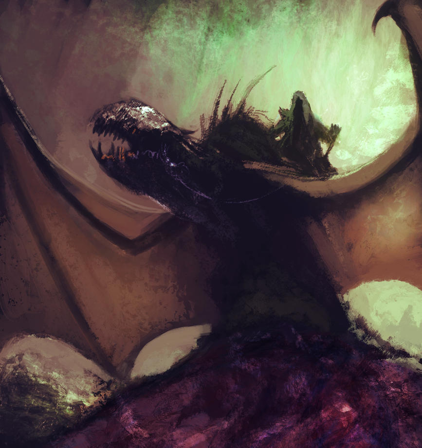 Dragon rider by edsfox